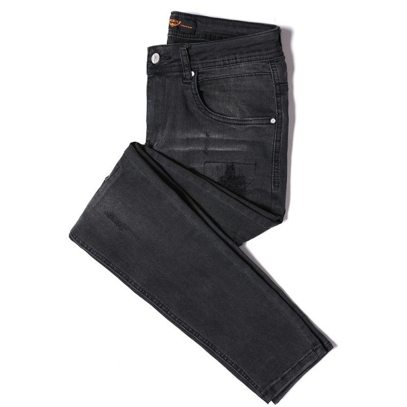 DX-04 Wholesale High Quality New Style Stretch Black Color Ripped Skinny Fit Denim Jeans For Men Size 29-38