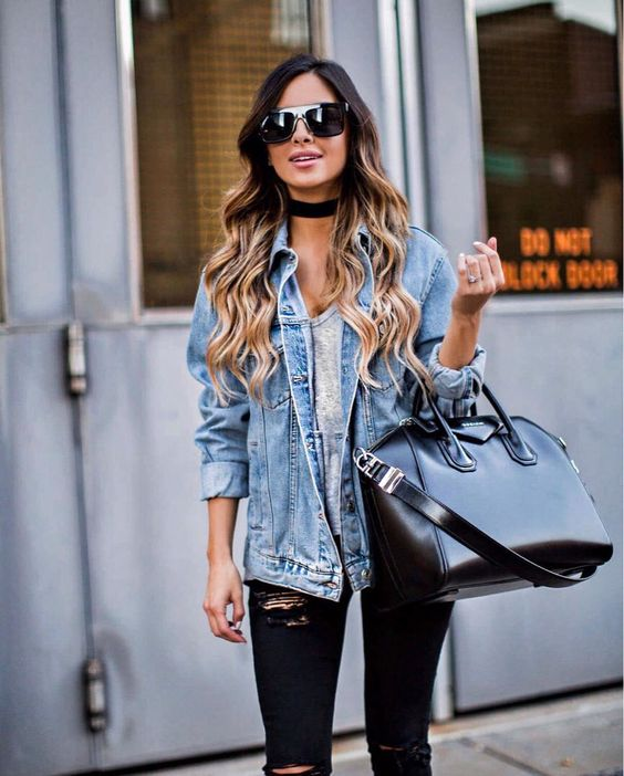 oversized women denim jacket