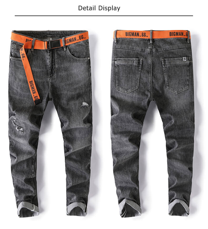 Dark gray men jeans