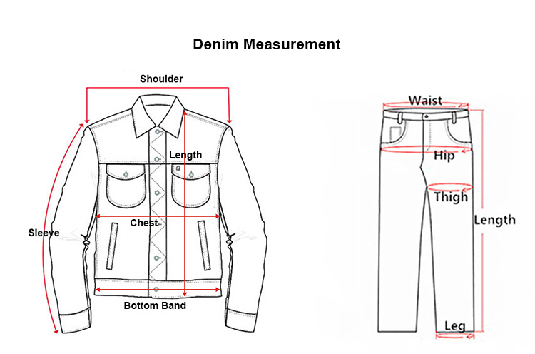 men jeans size chart