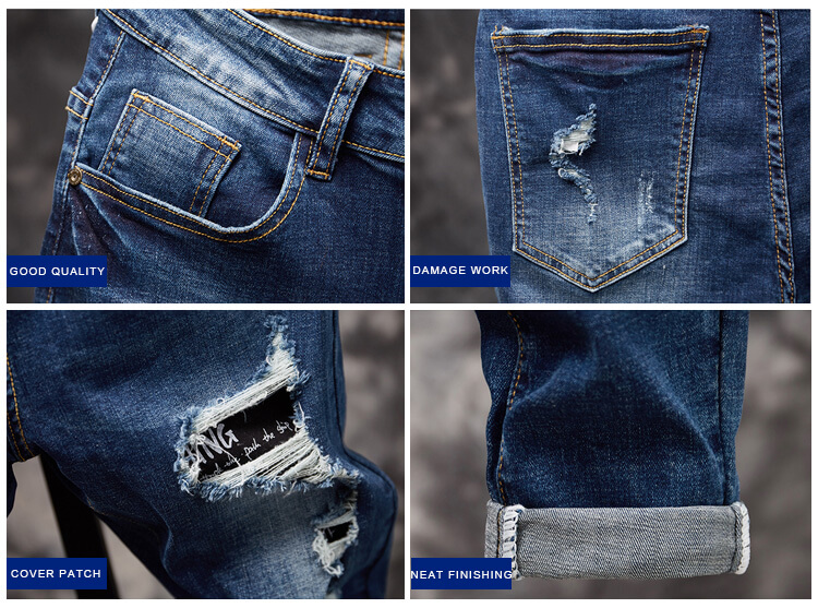 ripped hole jeans for men