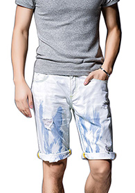 custom men short denim pants