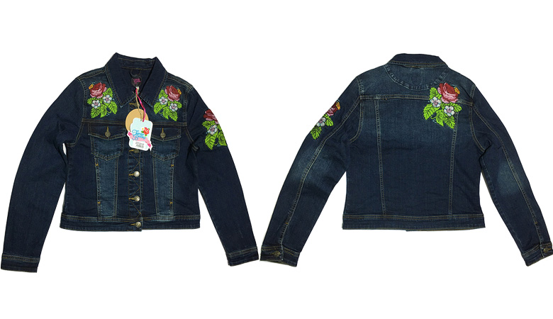embroidered denim jacket manufacturing