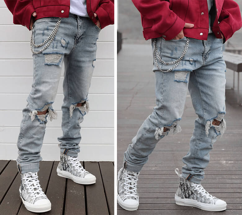 heavy jeans