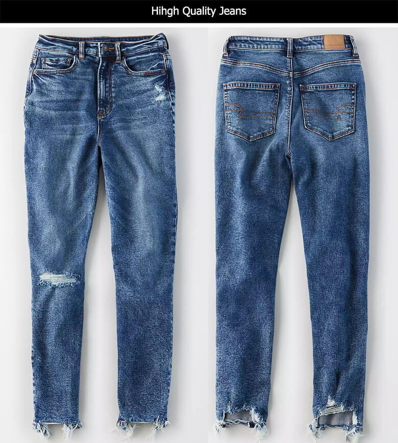 dark blue cropped mom fit jeans