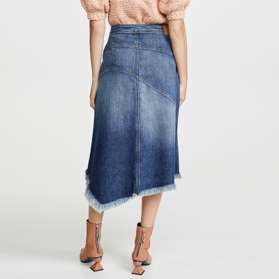 TC-887 High Street Fashion Medium Blue Women Denim Skirt