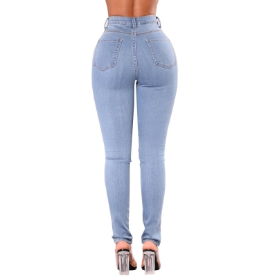 YP-239 Wholesale Colombian High Waist Butt Lift Skinny Fit Women Jeans Pants With Rivets size S-XXL