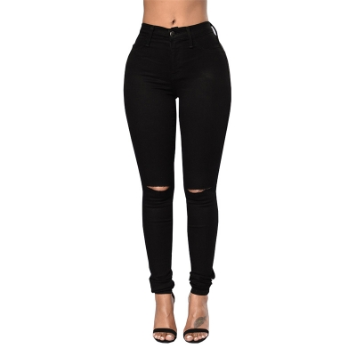 YP-168 Ladies Soft Fashion New Model High Waist Skinny Style Women Jeans S-XXL