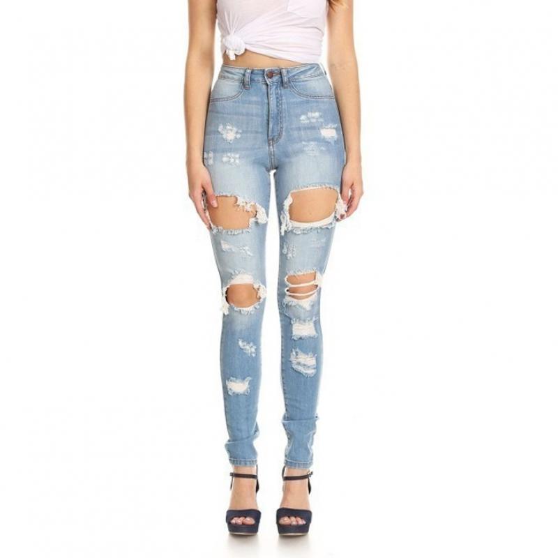 YP-234 Lady's broken skinny jeans