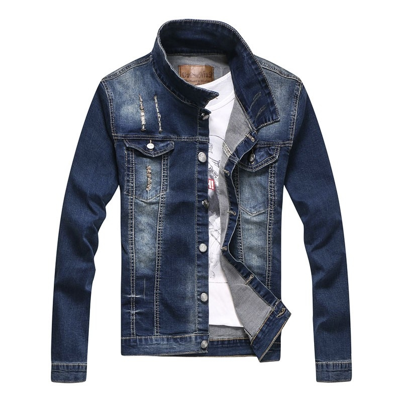 Nice design man's denim jacket back with print