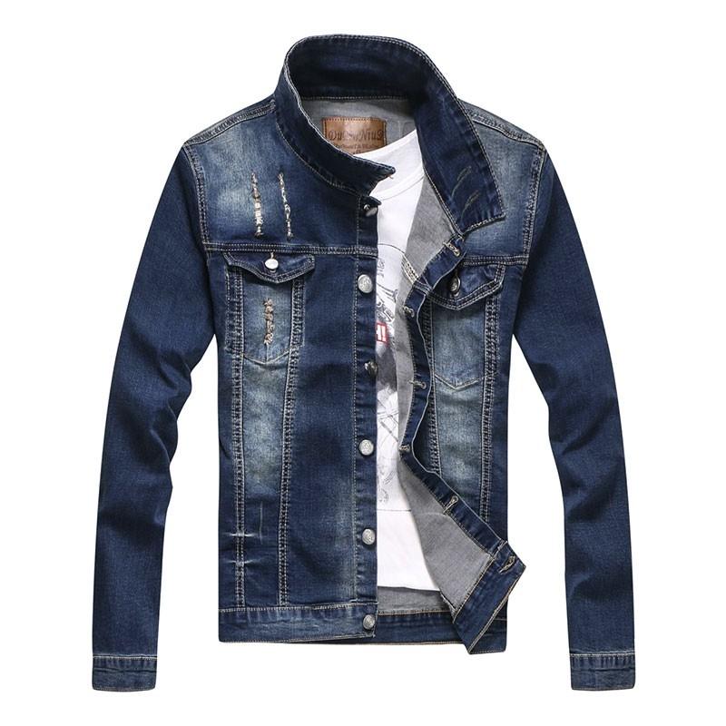 Nice design man's denim jacket back with print