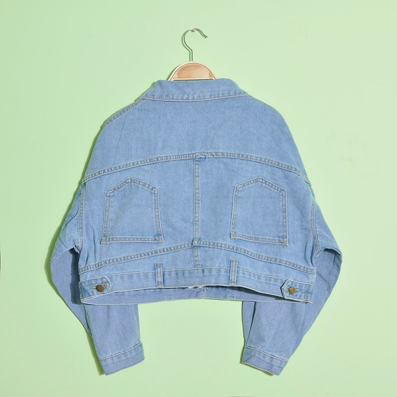 Over-sized lady's fashion denim jacket