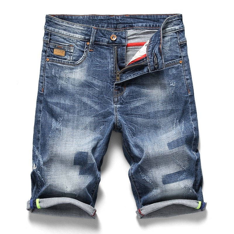 PG-332 Man's medium blue denim short size 29-38