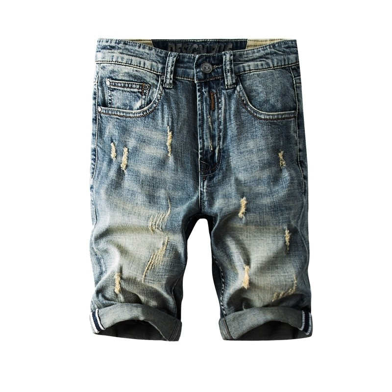 JS-823 Men vintage blue fashion denim short size 29-38