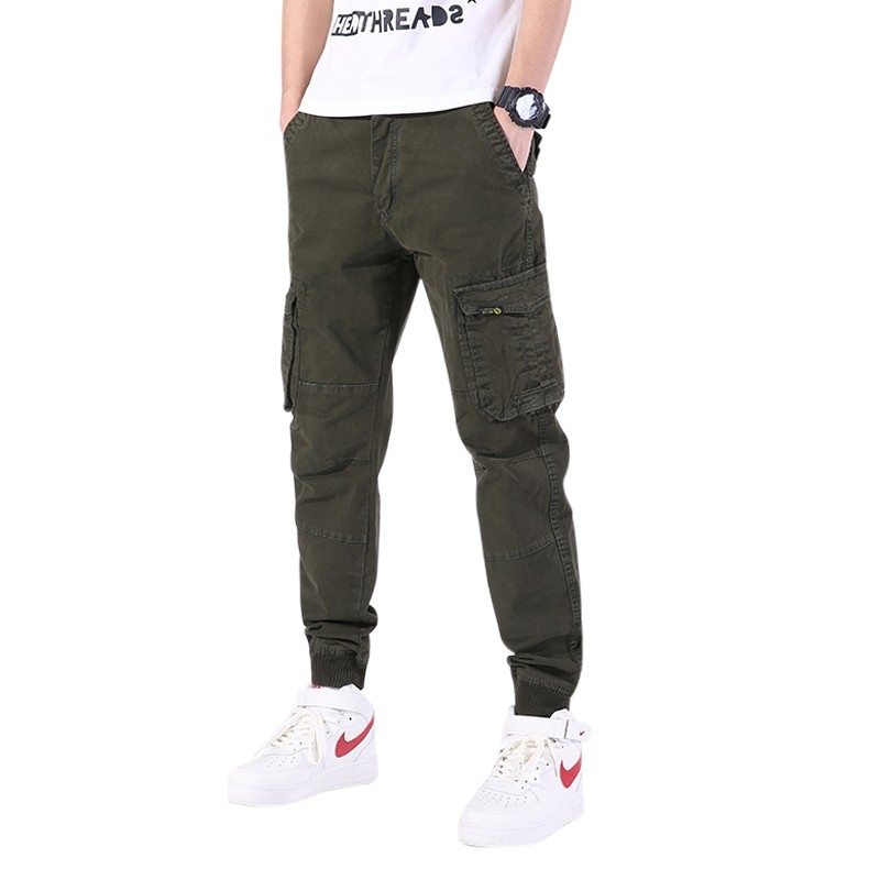 LD-1902 Men cargo jogger pants wholesale 2 colors offered size 30-38