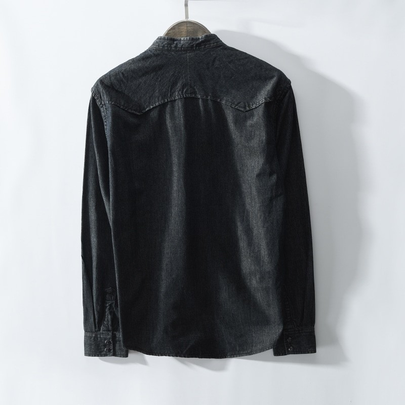 JJ-368 Man fashion casual denim shirt wholesale size M-3XL