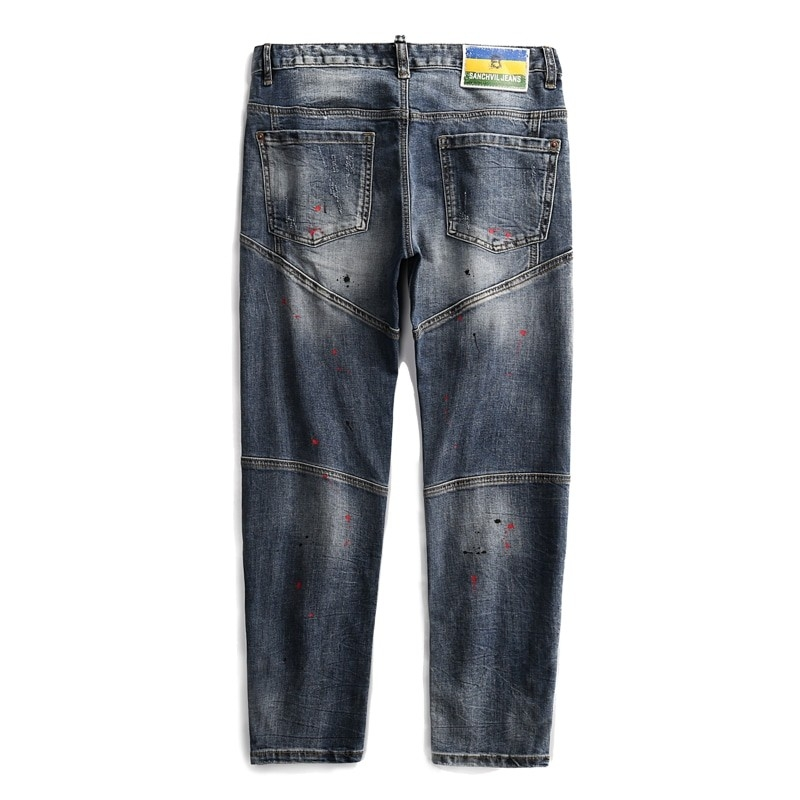 TC-042 Men fashion denim jeans with zipper at bottom size 29-38