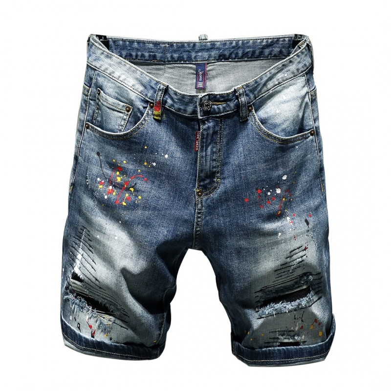TC-048 Men denim short ripped hole pants size 29-38