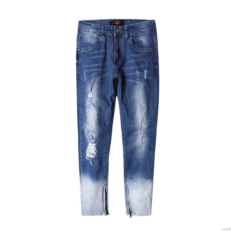 DX-01 Men fashion comfort fit ripped  zipper jeans size 29-38