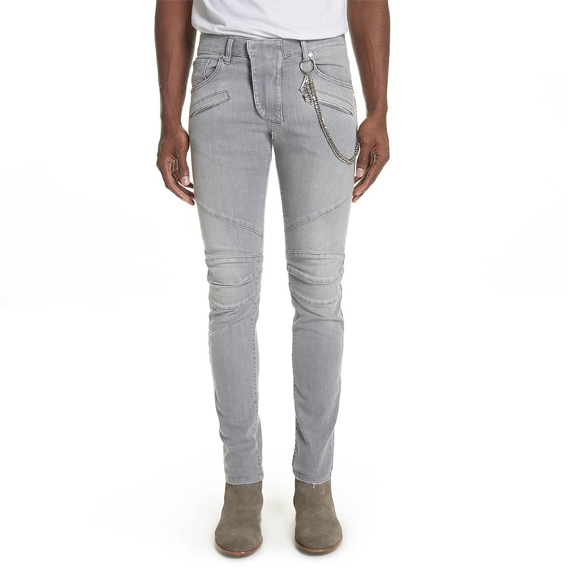AX-129 High Quality Light Gray Fashionable Denim Jeans For Men