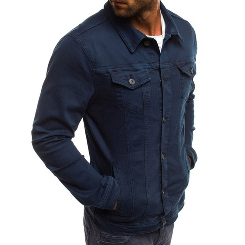 KJ542 Fashion Colorful Mens Cotton Denim Jeans Jacket