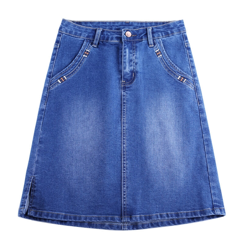 GM-1911 Nice looking good quality sexy mini denim skirt for women size 26-34