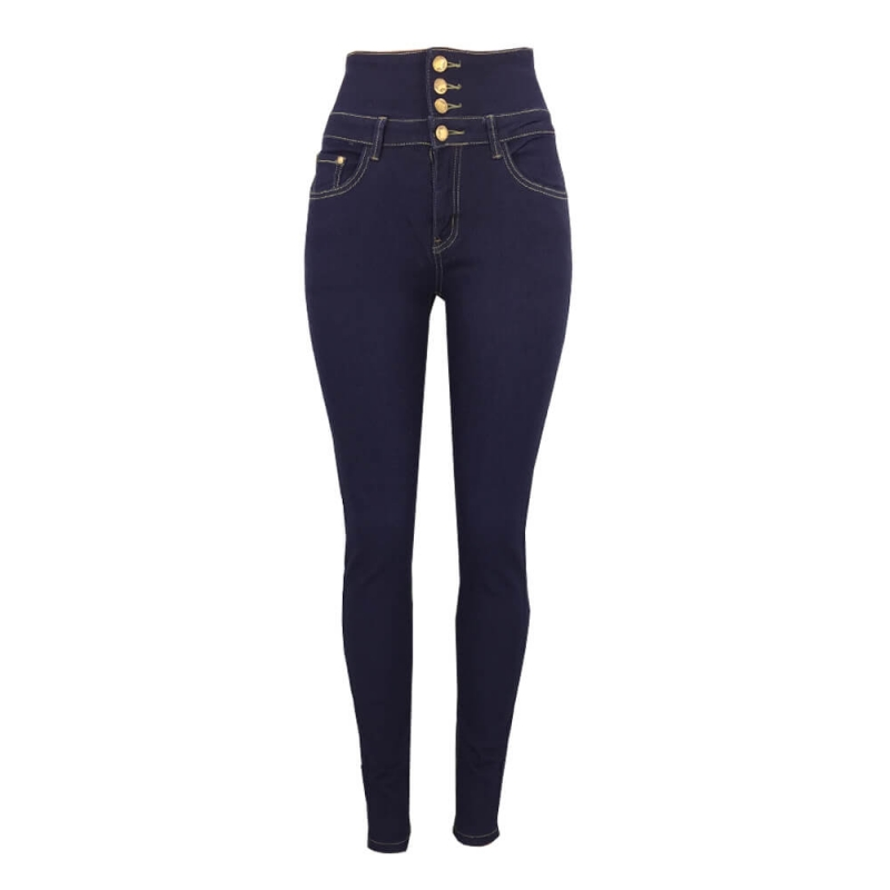 YP-248 Fashionable High Waisted Butt Lift Stretch Denim Pants For Women Light Blue Dark Blue Color Available Size S-XXL