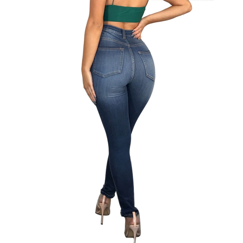 YP-6027 High Quality Basic Fashion Colombian Legging Women Denim Jeans High Wasited size S-XXL