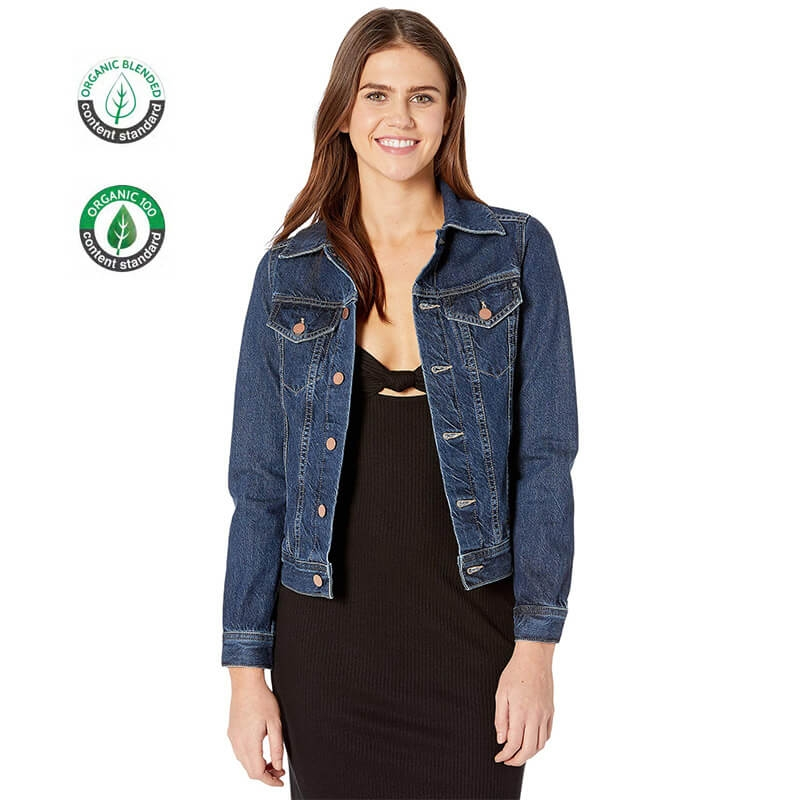 BV006 Custom High Quality Slim Fit Organic Cotton Women Short Denim Jacket