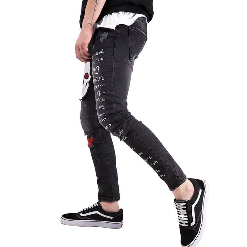 FC-011 Online Custom Make New Designer Jeans For Young Men