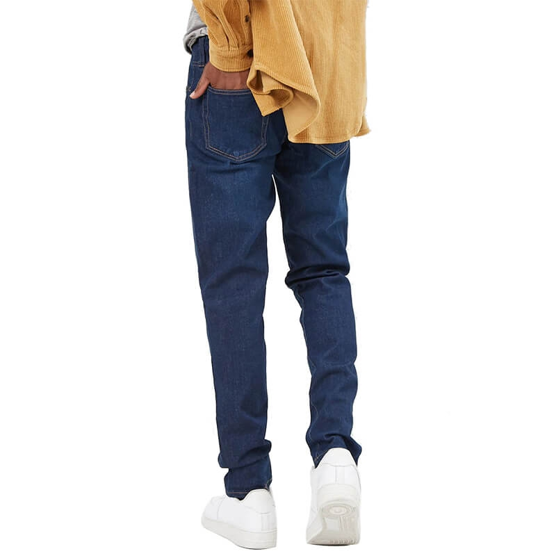 DS-014 Cheap Price OEM Slim Fit Dark Blue Jeans Trousers
