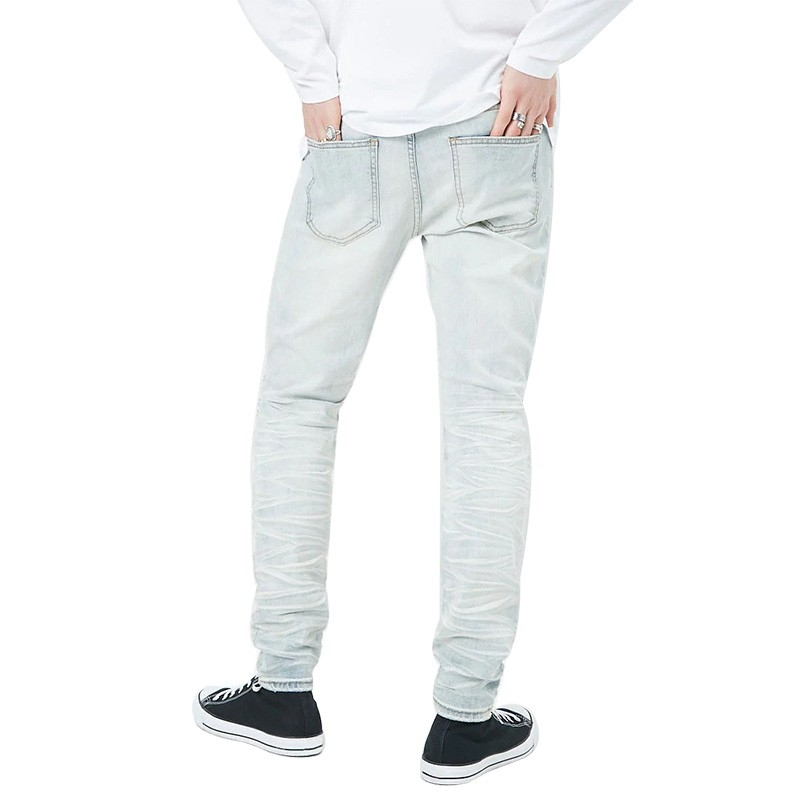 DS-016 Low Price Factory Direct Sale Custom Men Bikier Jeans Clothes
