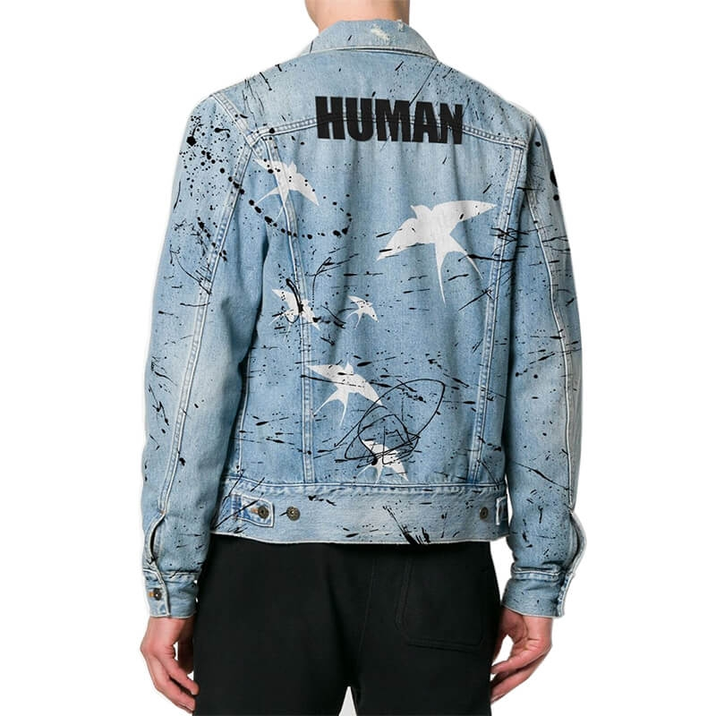 DS-811 Online Customize Printed Denim Jacket