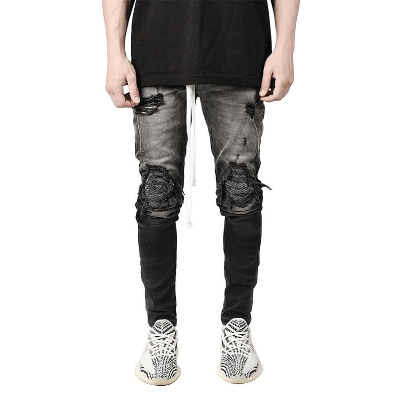 DS-009 Customized New Design Skinny Fit Ripped Jeans Pants